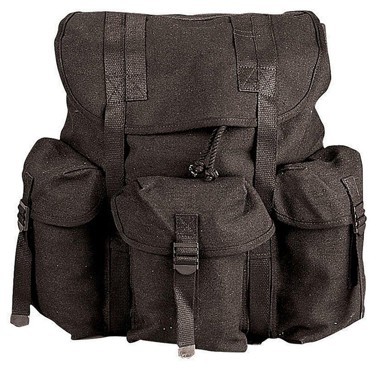 Amazon.com   G.I. TYPE HW CANVAS MINI ALICE PACKS - BLACK   Tactical ... 74fac90a72cbe