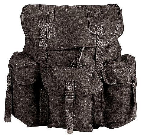 Amazon.com   G.I. TYPE HW CANVAS MINI ALICE PACKS - BLACK   Tactical ... cf30e34fadc