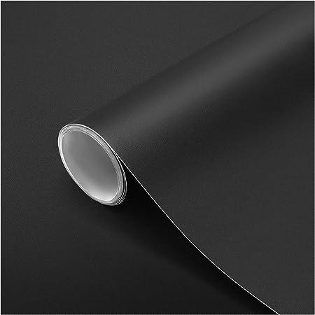 Adesivo da parete per cucina Carta adesiva Carta da parati autoadesiva in PVC per adesivi murali Nero opaco 61 x 500 cm