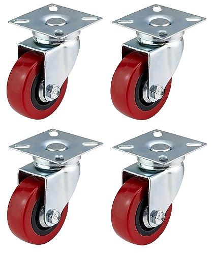 Ruedas giratorias Bulldog Castors de poliuretano (PU) con frenos de 50mm,