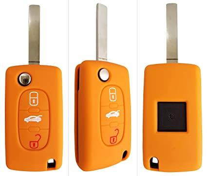 CK + Peugeot Auto de llave móvil Key Cover Case Funda Silicona para 207 307 308 5008