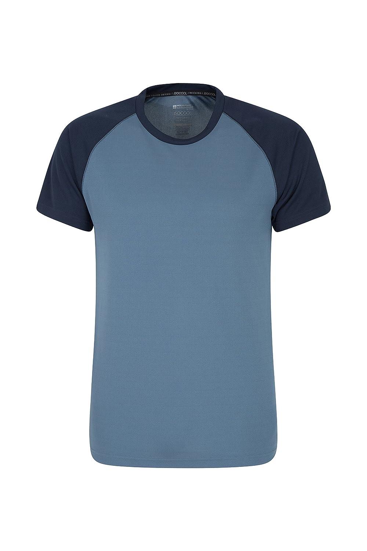 Mountain Warehouse Endurance Mens T-Shirt Breathable All Season Tee Blue XX-Small