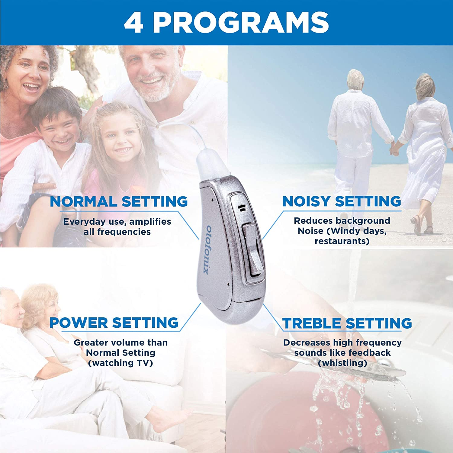 Otofonix Elite Mini Hearing Amplifier To Aid And Assist Are Many Types Of Aids Which Vary In Size Power Circuitry Right Gray Health Personal Care