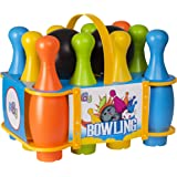 Go Play Soft Bowling Set for Kids - 12-Piece Game with Colorful Numbered Pins - Flexible Toy for Indoor or Outdoor