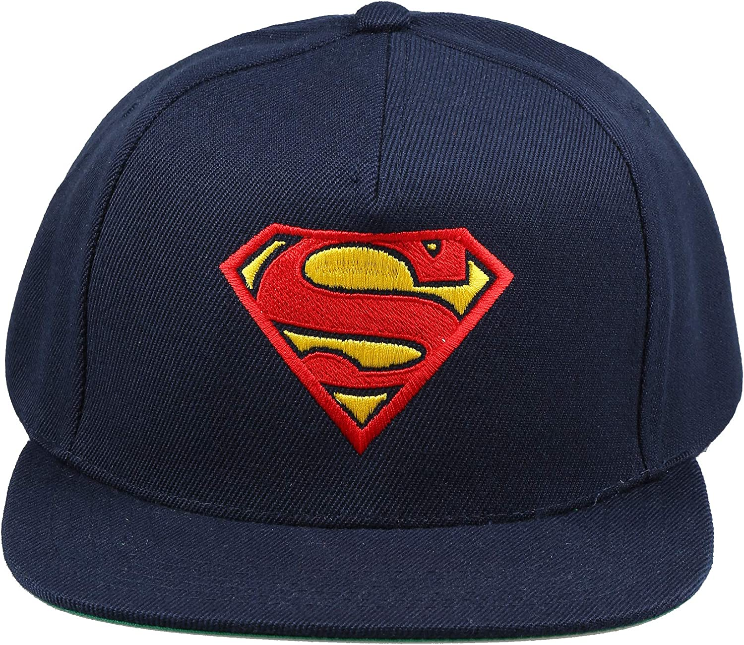 Size:One Size DC Comics Mens Superman Logo Snapback Beanie Blue Navy NVY One