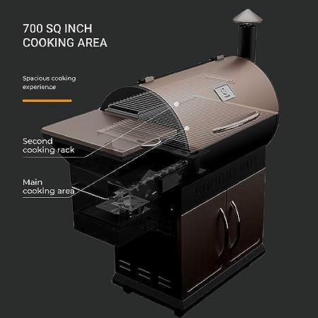 z parrillas zpg-700d madera Pellet parrilla para barbacoa y fumador con control de temperatura digital, 700 pulgada cuadrada zona de cocción, perfecto tamaño de la familia al aire libre Patio Grill: Amazon.es: