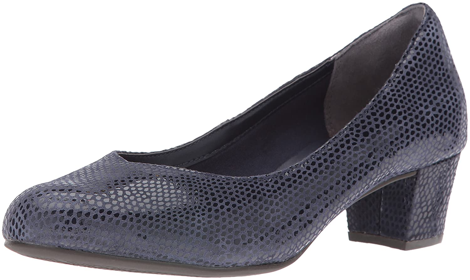 Rockport Women's Total Motion Charis Dress Pump B01ABRNUEO 10.5 B(M) US|Deep Ocean Mamba Snake