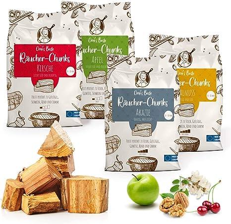 1x Packung Räucherchips Smoker-Holz WALNUSS Räucherholz Wood Chips