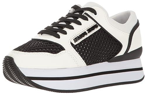 Scarpe Donna ARMANI 925187 7P578 Sneakers Primavera Estate 2017 Bianco nero  36 d93b74f00e3