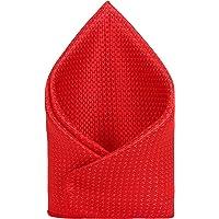 TIE ON Men's Designer Neck Pocket Square_Red