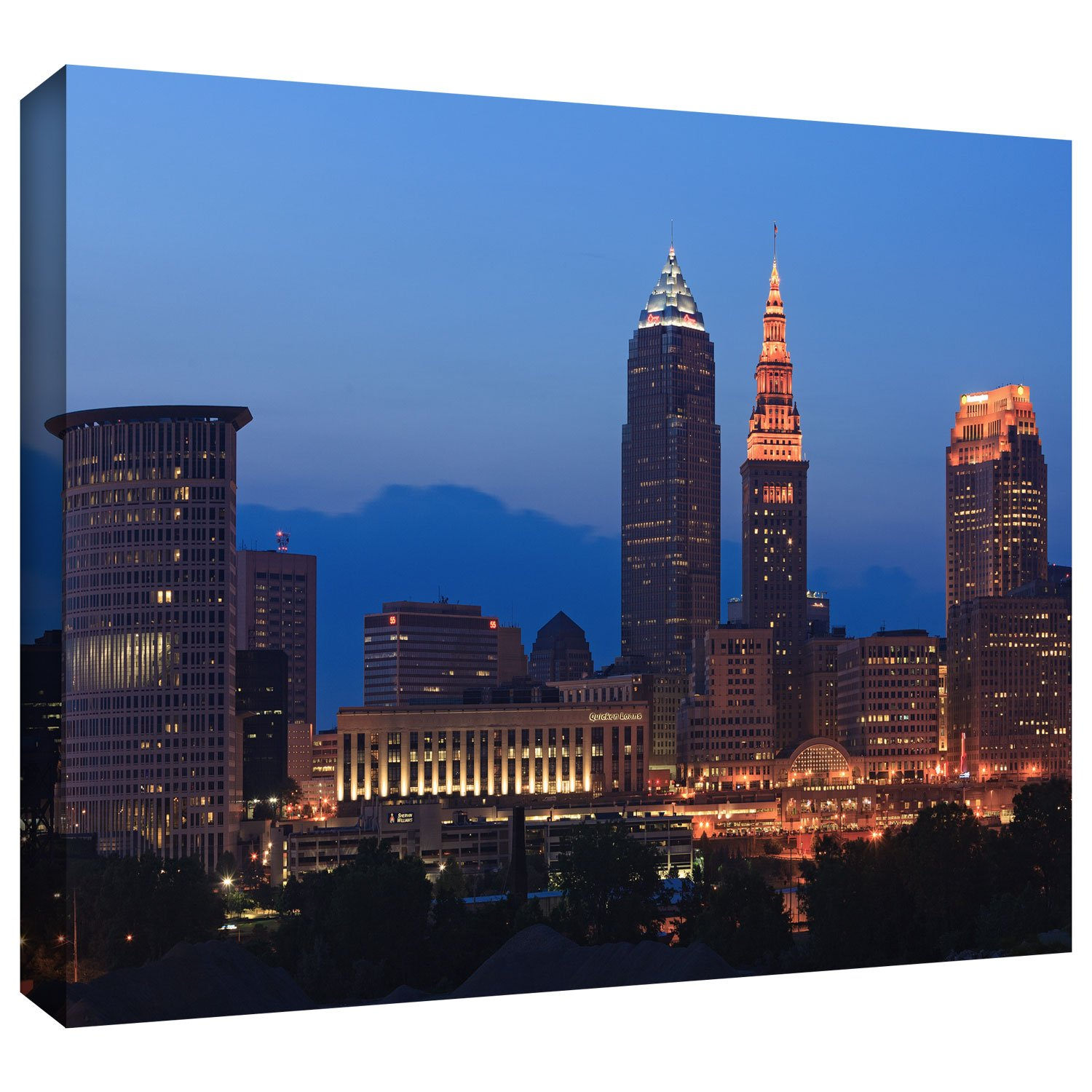 12 by 18-Inch 0yor030a1218w ArtWall Cody York Cleveland 17 Gallery-Wrapped Canvas Artwork