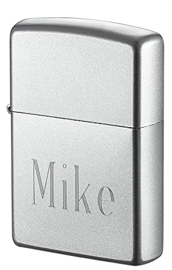 Amazoncom Personalized Zippo Lighter Engraved With Name Satin