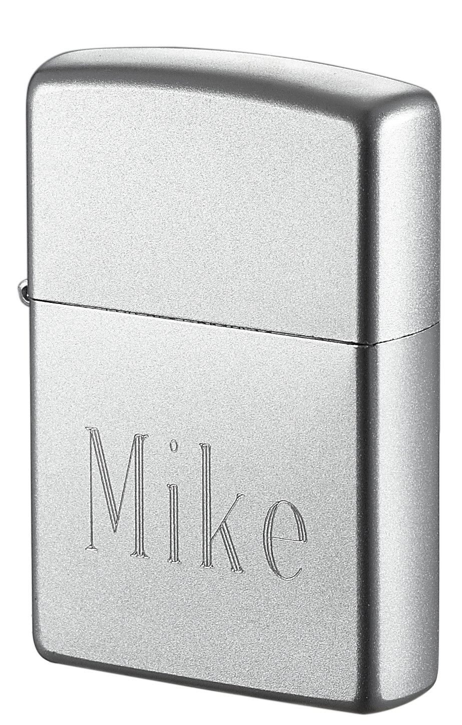 Personalized Zippo Lighter Engraved with Name - Satin Chrome - Free Engraving