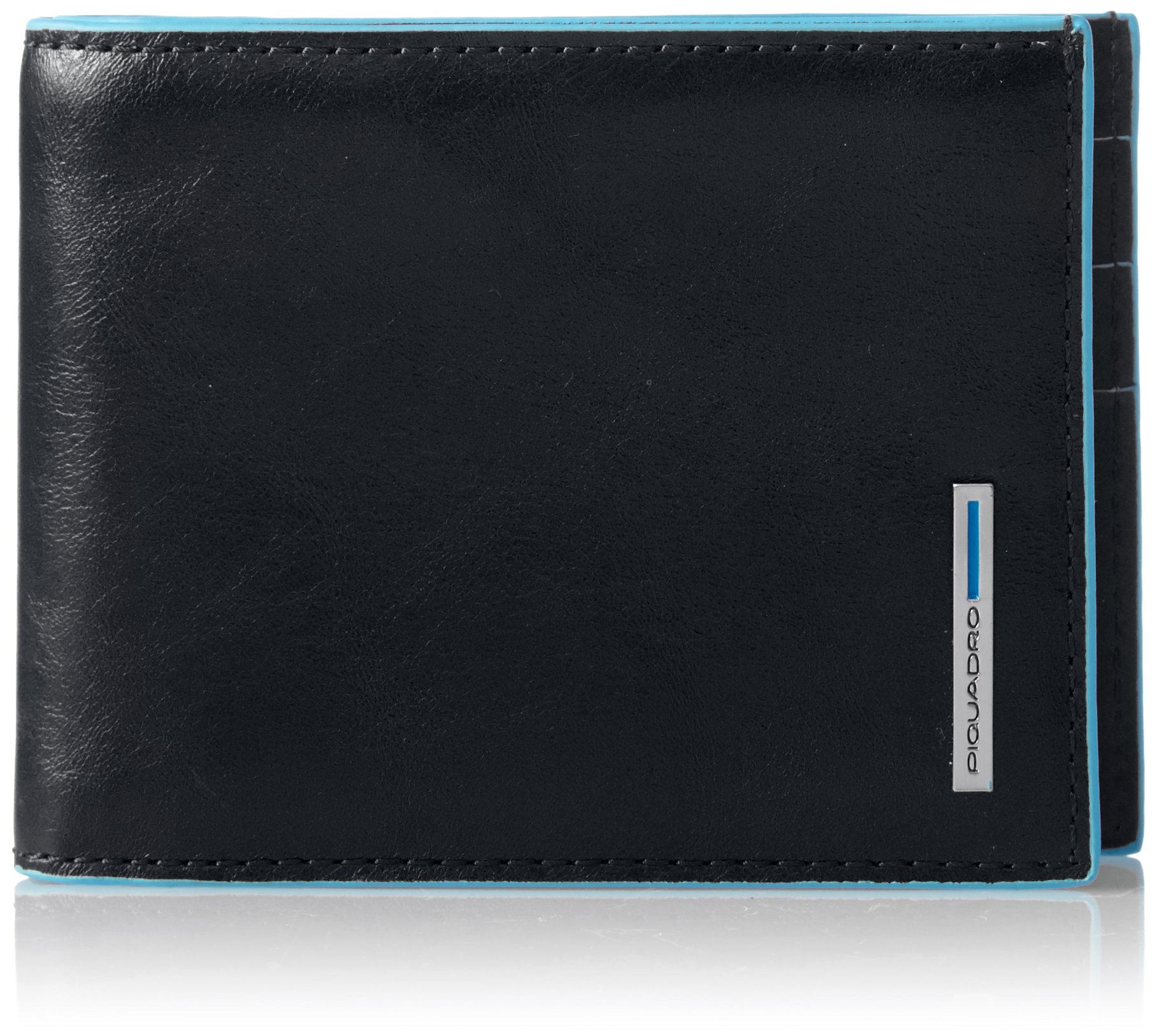 Piquadro Leather Wallet, Black, One Size by Piquadro