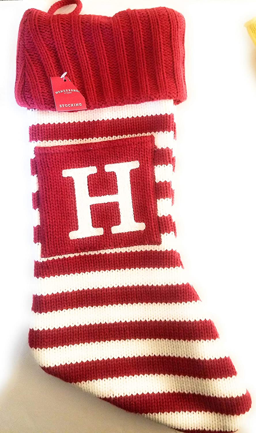 Personalized Holiday Stockings Vibrant Colorful Christmas Stockings Mid Century Modern Contemporary Stripes Monogrammed Names Wonderland