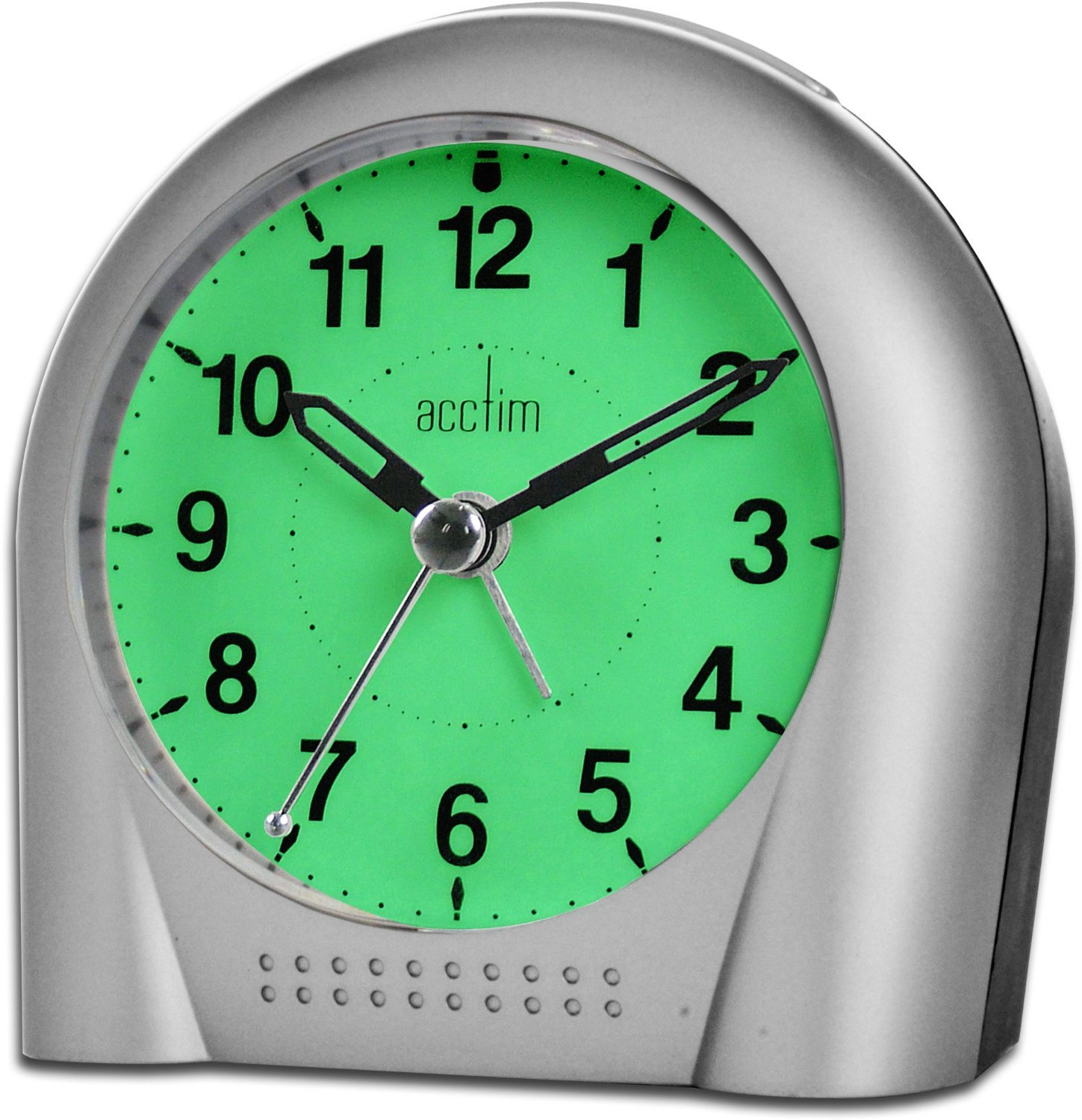 Glow in the dark alarm clock amazon kitchen home sweeper silver alarm clock amipublicfo Images