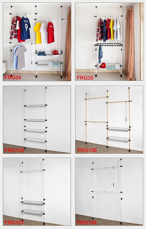 Portant de v/êtement largeur SoBuy/® FRG106 T/élescope Garde-Robe Syst/ème Herkule 103-278cm x hauteur 160-195cm