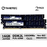 Timetec Hynix IC デスクトップPC用メモリ DDR3L 1600 MHz PC3L 12800 240 Pin UDIMM 永久保証 (16 GB キット (2x8GB))