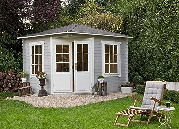 Alpholz 5-Eck Gartenhaus Modell Monica, 28 mm Wandstärke ...