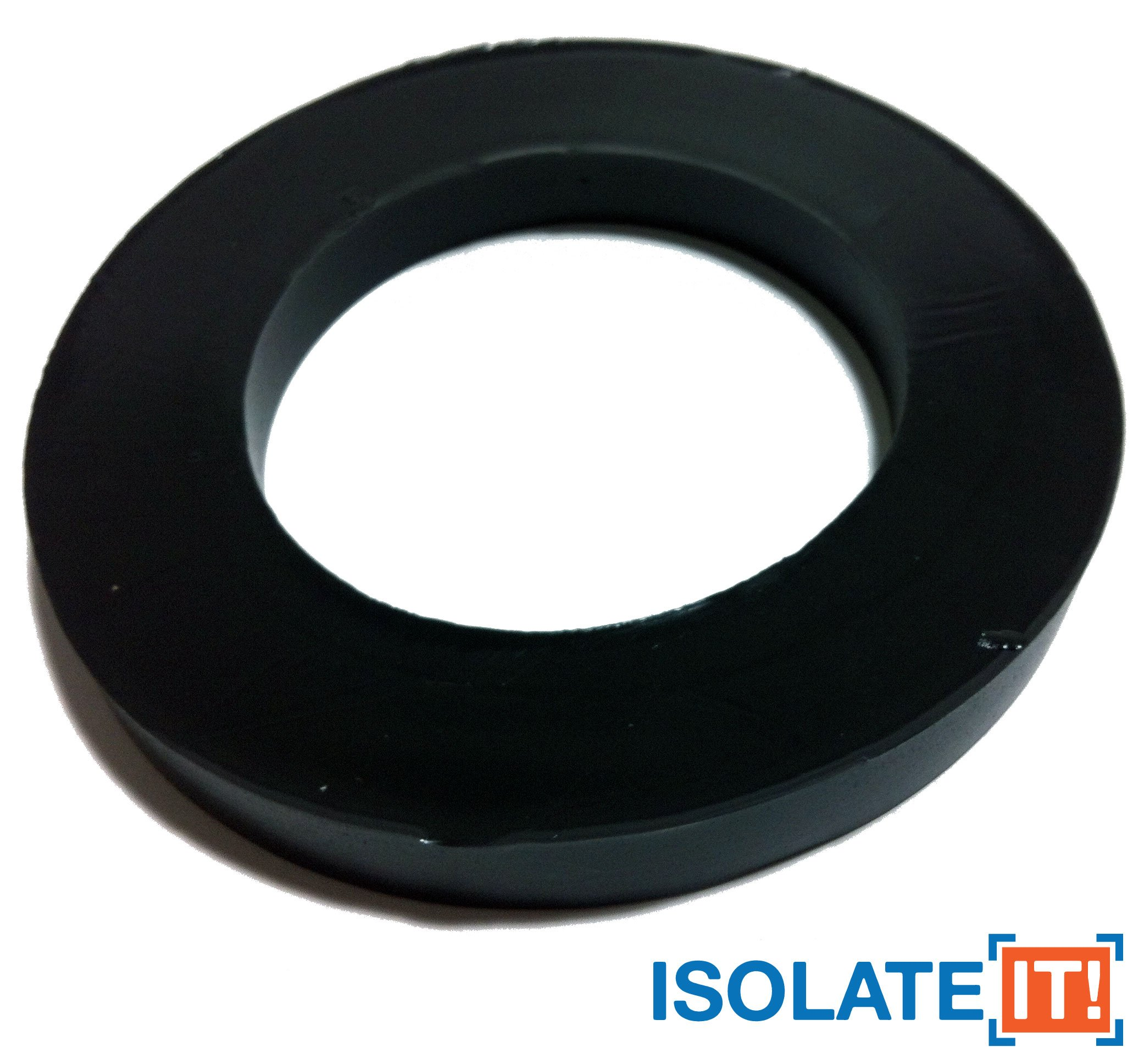 Isolate It: Sorbothane Large Vibration Isolation Washer 5'' OD x 3.1'' ID x 0.5'' Thick 70 Duro - 4 Pack
