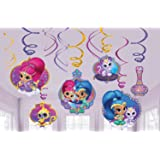 Shimmer and Shine Hanging Swirl Decorations (12pc)