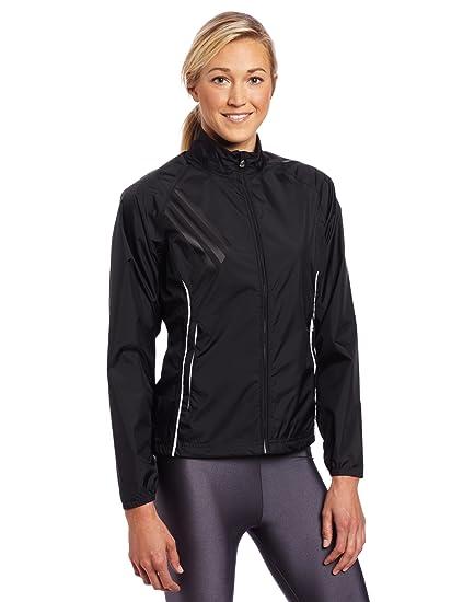 809462380 adidas Golf women's Climaproof Rain Provisional Jacket, Black/White, Small