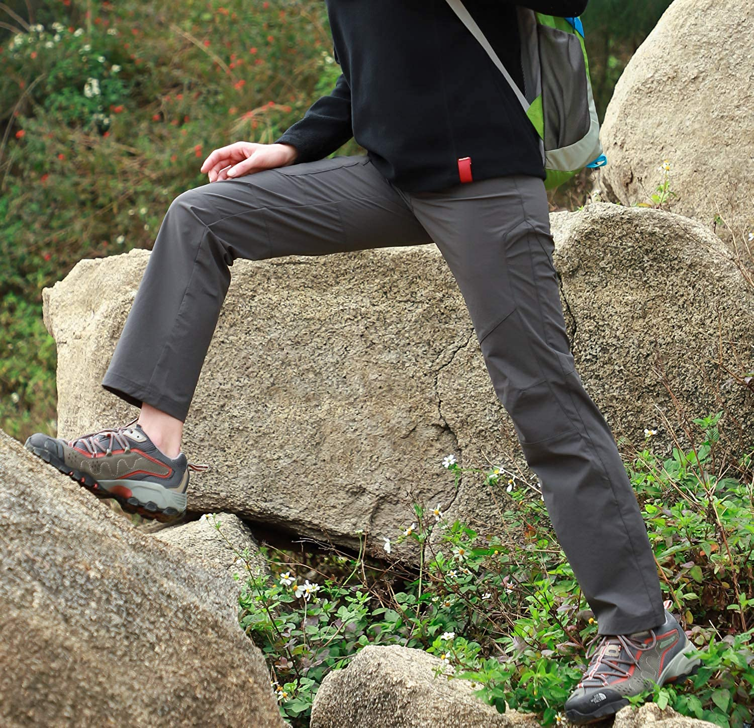 Water Resistant and Stretch MIER Womens Outdoor Quick Dry Hiking Pants Lightweight Cargo Pants with Elastic Waist