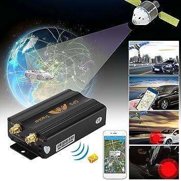 Coche Sistema de Seguimiento GPS, GPS SMS GPRS Rastreador de vehículos localizador TK103B con mando