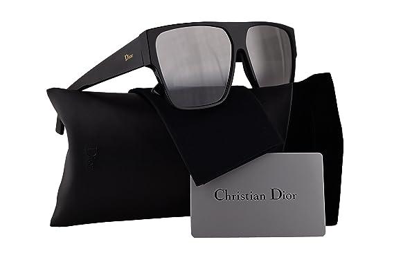 97fc227c3de5 Amazon.com  Christian Dior DiorHit Sunglasses Black w Grey Silver ...