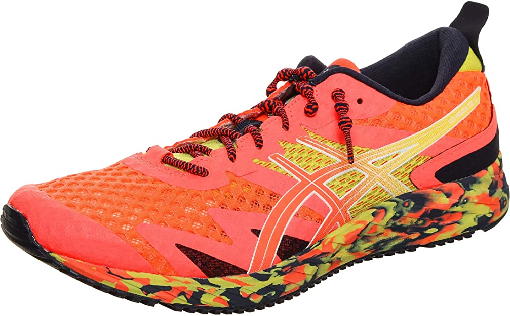 ASICS Gel-Noosa Tri 12 Road Running Shoe Herren Sneakers orange/gelb/schwarz bunt