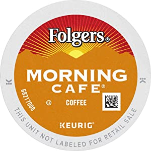 Folgers Morning Café, Mild Roast Coffee, K Cup Pods for Keurig K Cup Brewers, 96Count