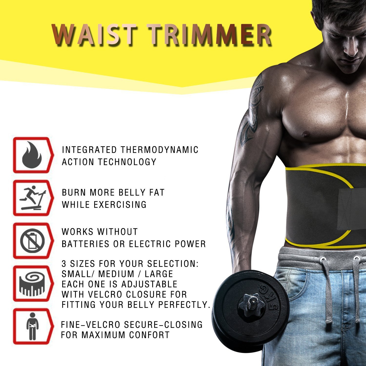 e38e1be042b Buy Sweet sweat premium waist trimmer shaper slimming belt Online at Low  Prices in India - Amazon.in