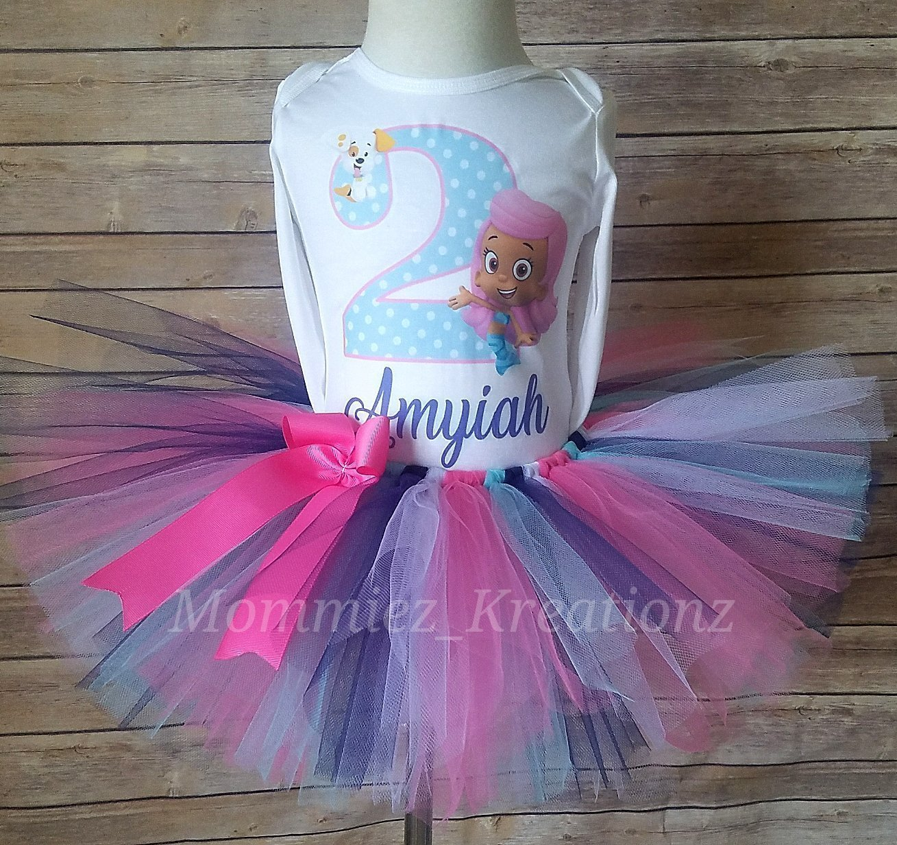 Bubble Guppies Tutu Set, Molly Birthday Outfit, Bubble Guppies Birthday