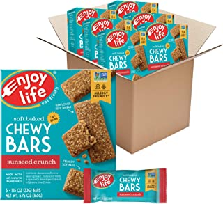 product image for Enjoy Life Chewy Bars, Sunseed Crunch Nut Free Bars, Soy Free, Dairy Free, Non GMO, Gluten Free, 6 Boxes (30 Total Bars) (Pack of 6)