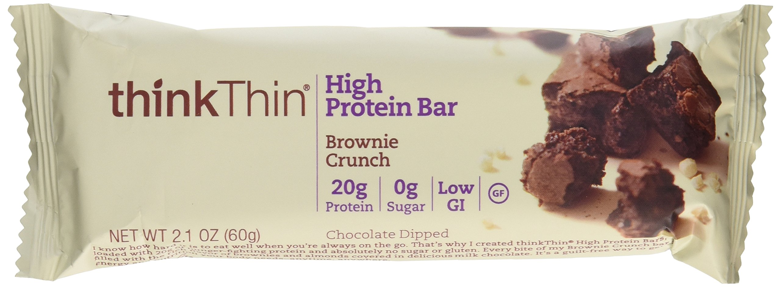 Think Thin 20 Pack (2 X Box of 10)- (Brownie Crunch) by thinkThin (Image #1)