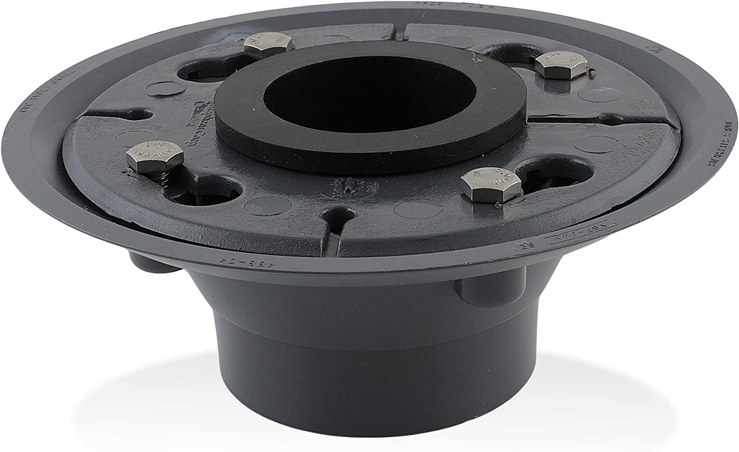Luxe 2 PVC Shower Drain Base with Rubber Gasket by Aqva