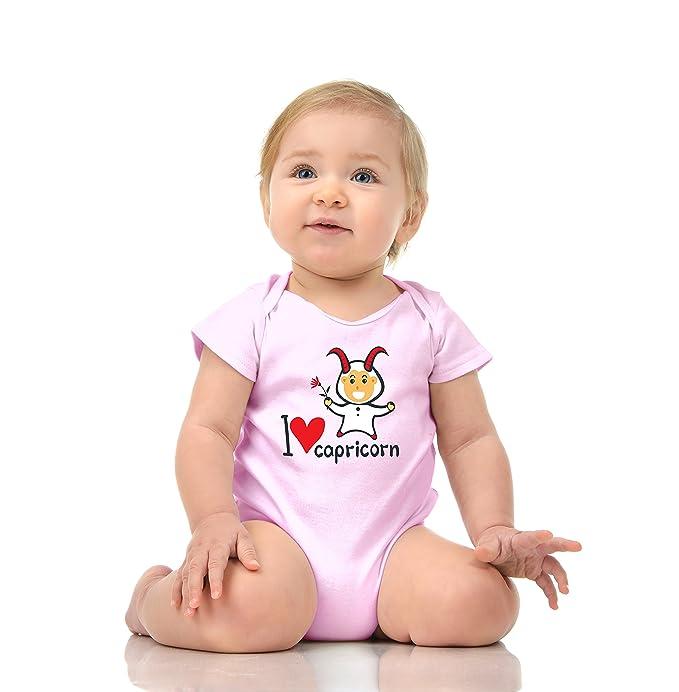 3215c26f470 Amazon.com  I Love Capricorn - Zodiac Baby Romper - 100% Cotton Soft ...