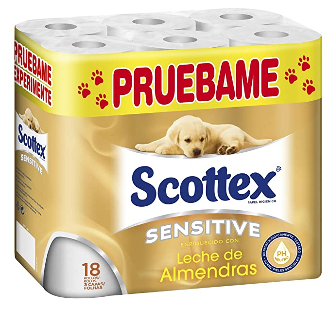 Scottex Sensitive P18 - Papel Higiénico (Papel WC)