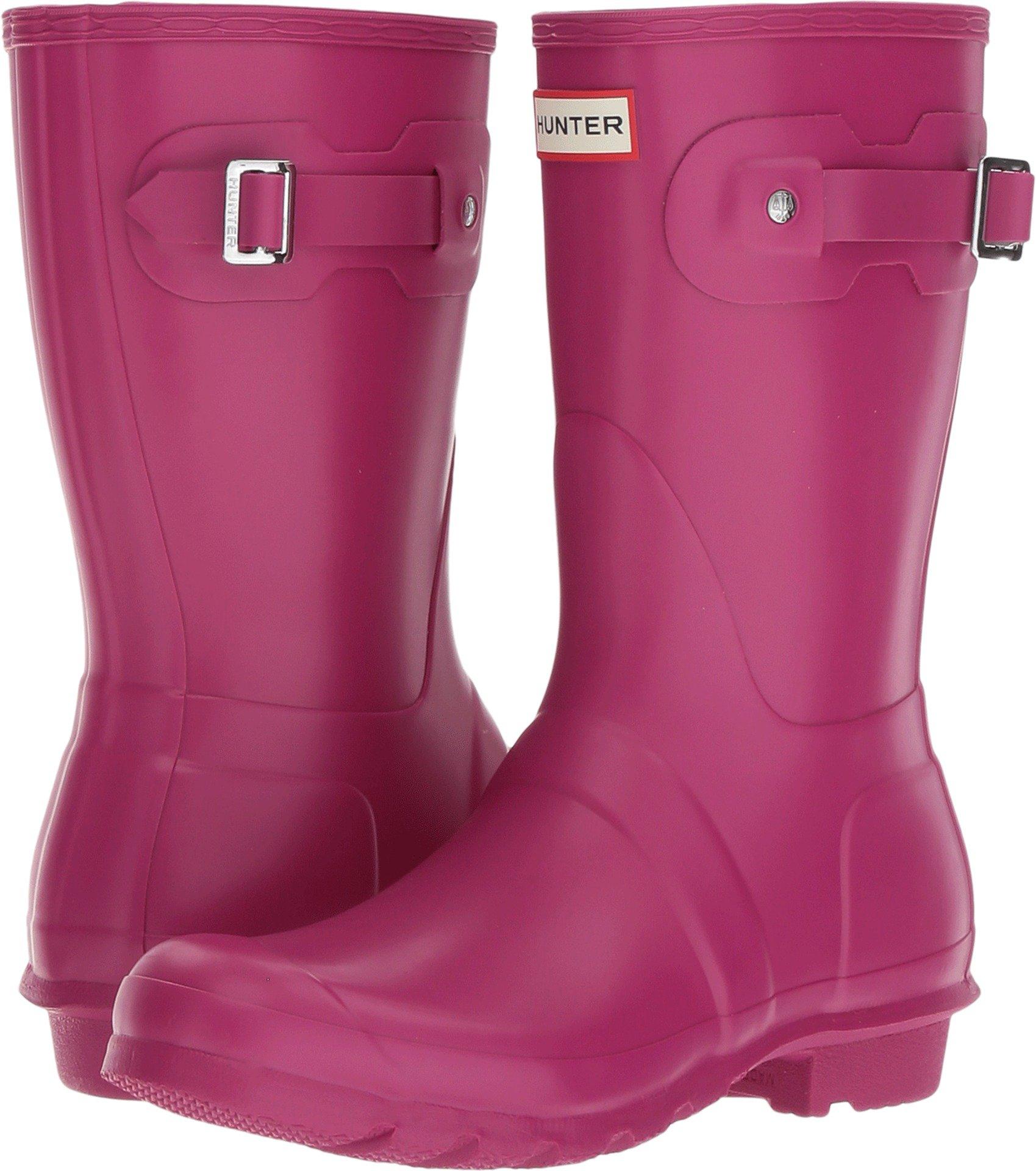 Hunter Womens Original Short Dark Ion Pink Rain Boot - 5 B(M) US by Hunter