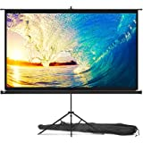 Projector Screen with Stand 84 inch - Indoor and Outdoor Projection Screen for Movie or Office Presentation - 16:9 HD Premium