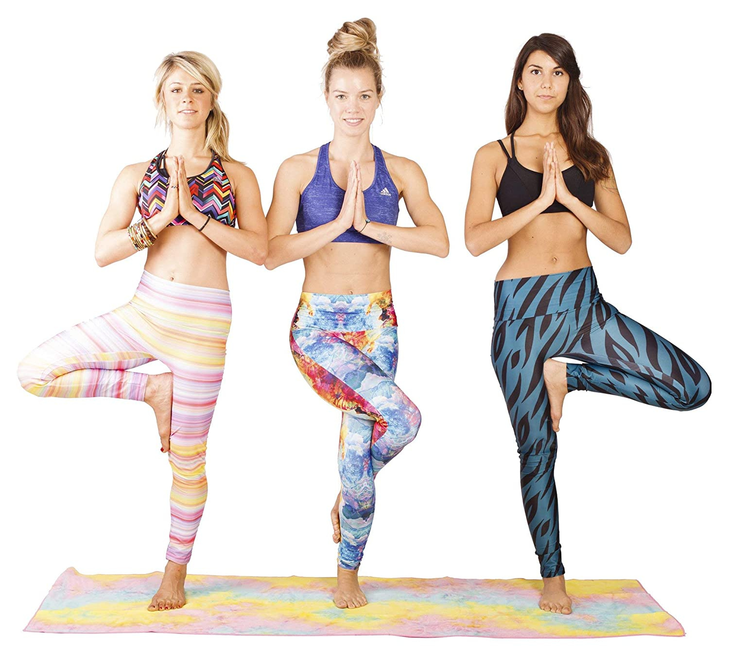 High Waisted Long Full Length Workout and Running Leggings Limber Stretch Womens Printed Yoga Pants