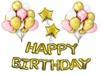 Amazon.com: Juego de globos de cumpleaños para niña, juego ...