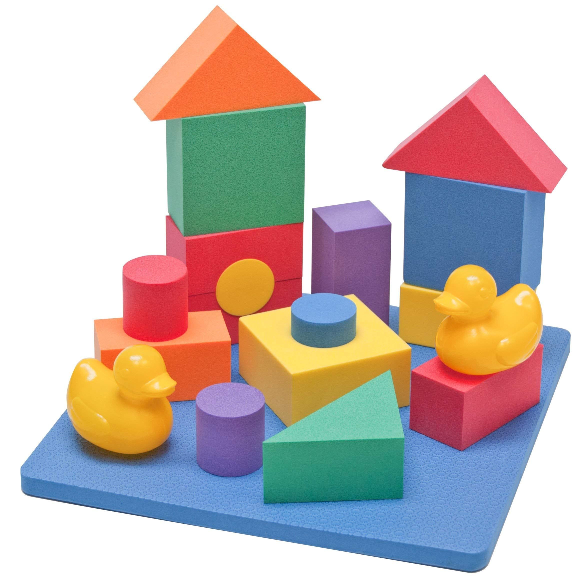 Amazon Com Edushape Floating Blocks Toy Stacking Block