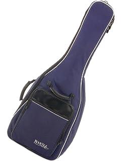 Rocktile 21129 - Funda guitarra clásica, correas acolchadas, mochila burdeos