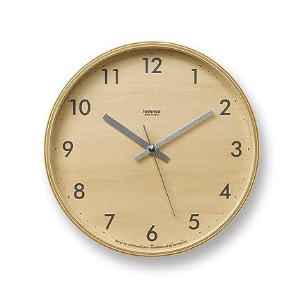 Amazon.com: Lemnos Plywood Wall Clock S Gray: Home & Kitchen