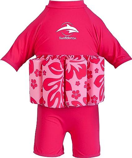 Konfidence Float Maillot De Bain Bouée Intégrée Entraînement De Natation Float Rose Pink Hibiscus Amazon Fr Sports Et Loisirs