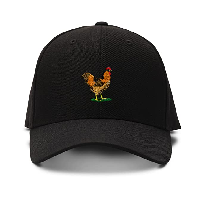 Image Unavailable. Image not available for. Color  Speedy Pros Rooster  Western Embroidery Adjustable Structured Baseball Hat Black a9f0964097e3
