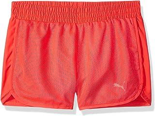 Puma Little Girls' Mesh Overlay Shorts, Bright Plasma, 4