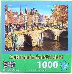 """Autumn in Amsterdam Puzzle 1000 Pieces 27"""" X 20"""""""