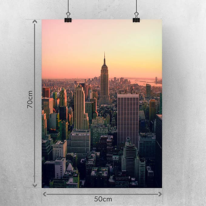 120x80cm New York Skyline Sonnenuntergang
